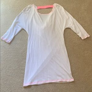 White with pink band, Victoria's Secret cover-up